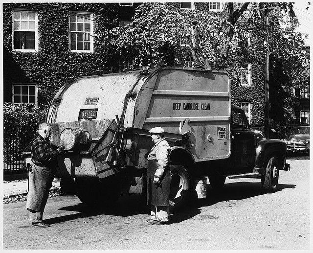 Municipal Vehicles Cambridge Public Works Truck Two Men With
