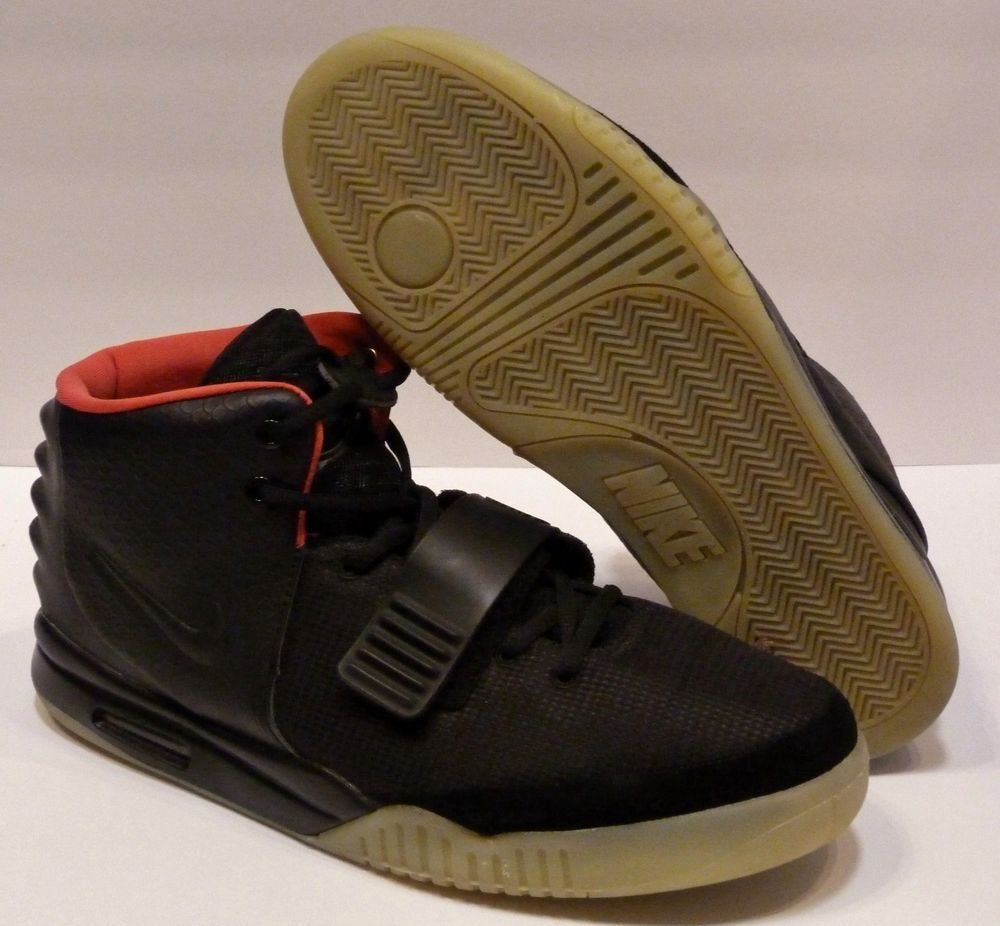 f7707569e043f Nike Air Yeezy 2 Black   Solar Red 2012 Mens Size 13 Glow in the Dark VG   Nike  AthleticSneakers