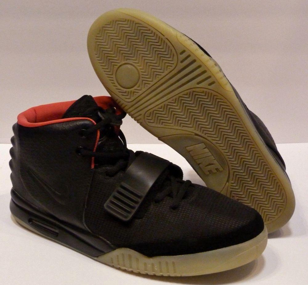 Men's Nike Air Yeezy Kanye West Glow In The Dark Black