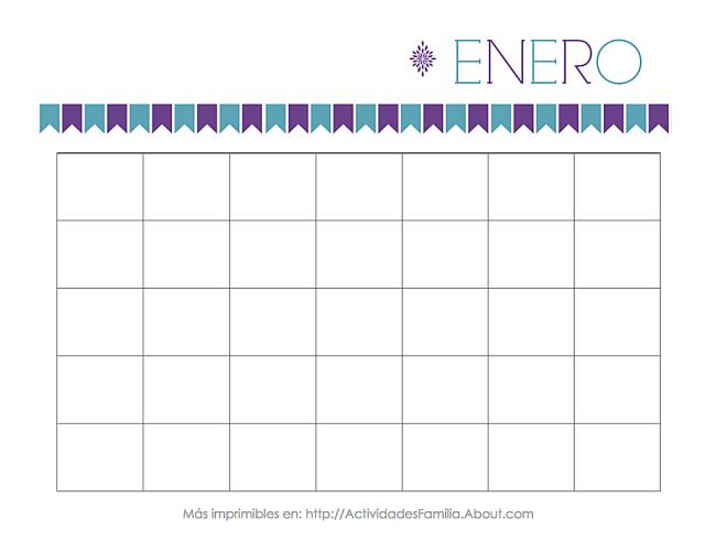 Calendarios Personalizables para imprimir y organizar tu mes | ENERO ...