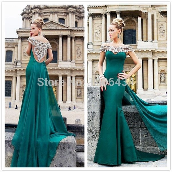 Find More Prom Dresses Information about Sexy Slim Dark Green ...