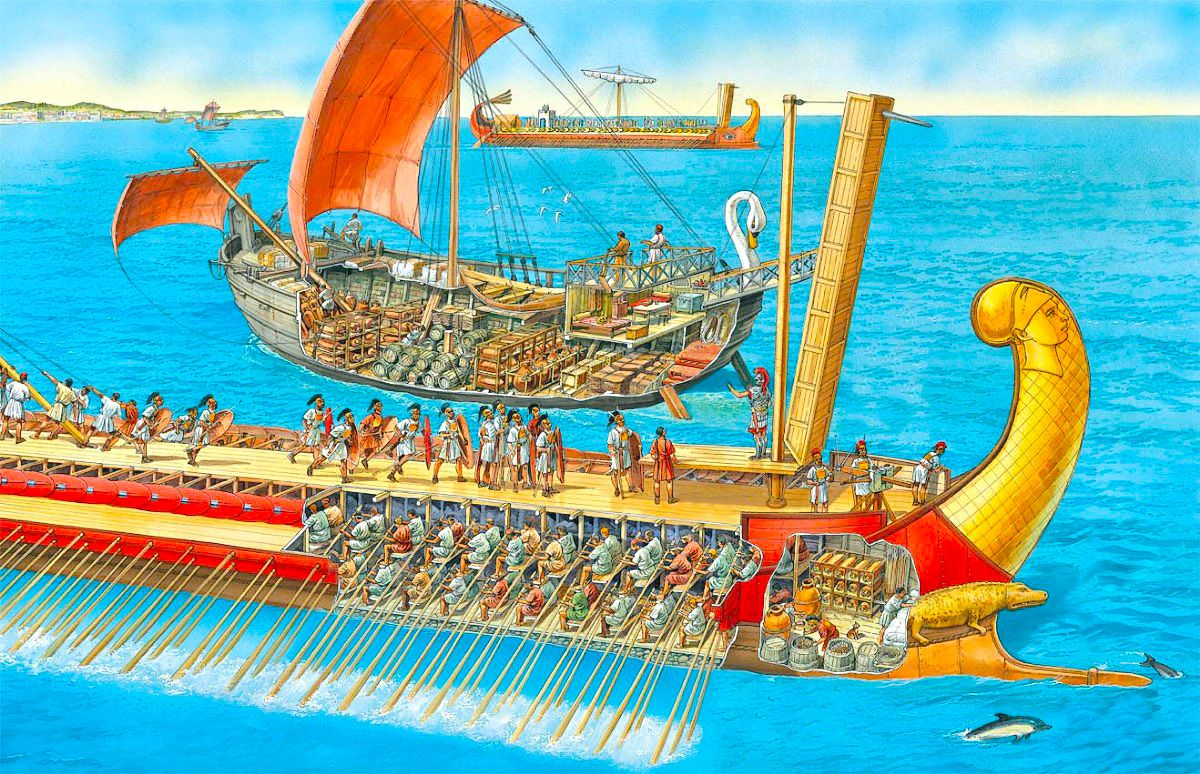 Traveling By Ship In The First Century Peter Dennis Historical Pirate Diagram Piratediary