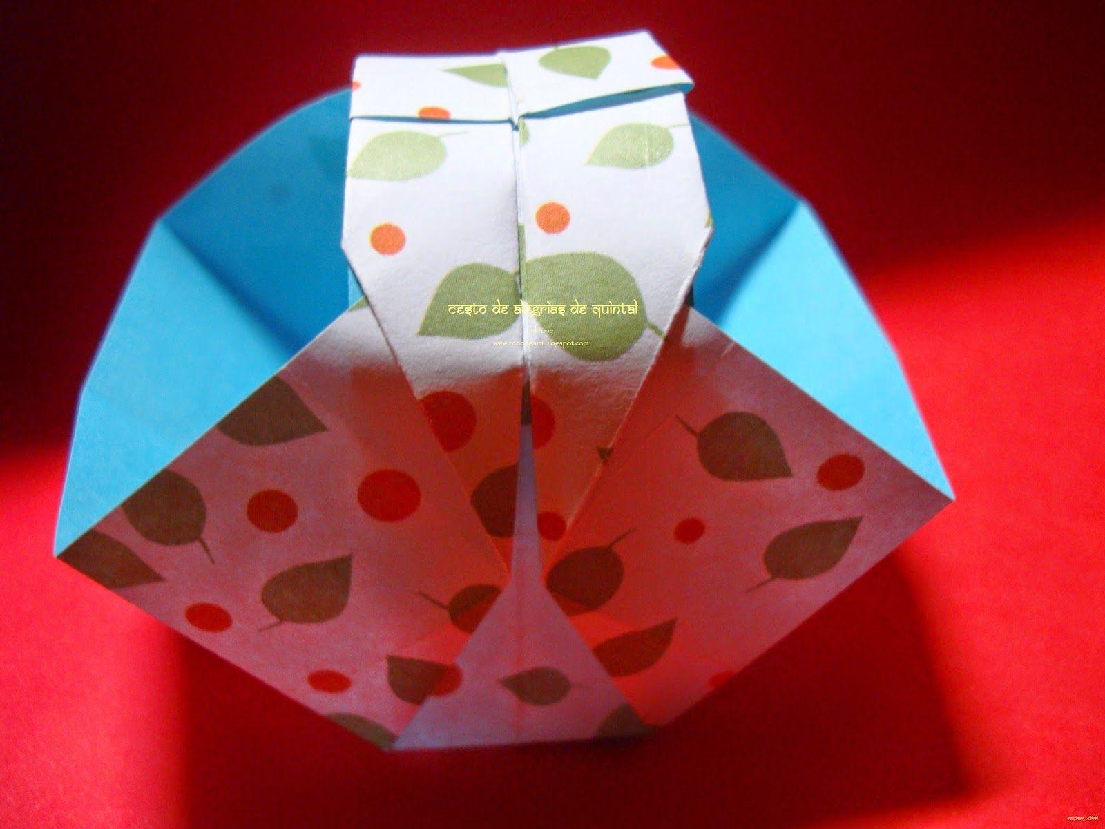 Zen Origami Cesto De Alegrias De Quintal Caixa De Origami Origami Cestas