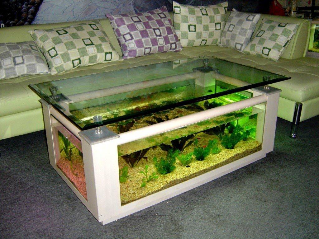 Coffee Table Aquarium Glass Fish Tank