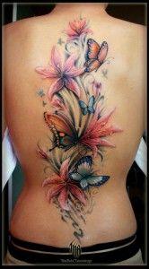 Tatuaże Kobieta Kolorowy Higit Not My Style But Very