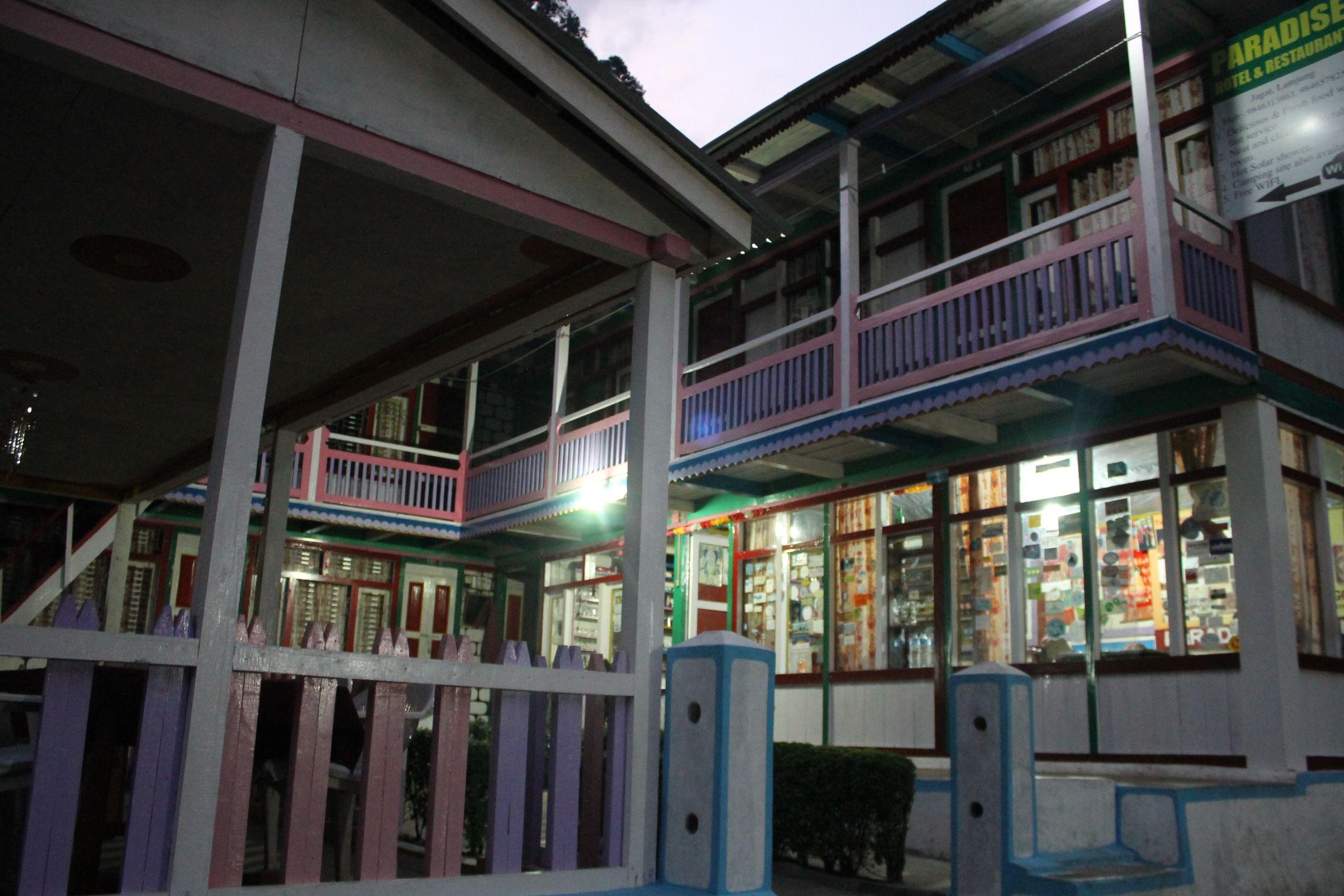 Casas coloridas de las aldeas