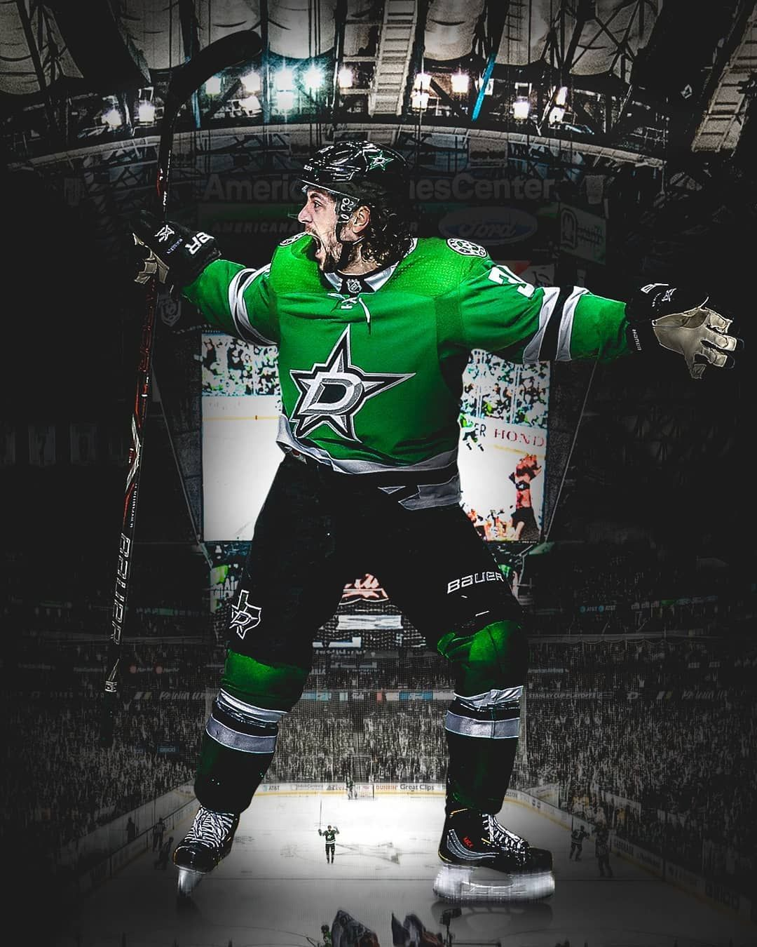 Dallas Stars Check Out Our Story For A Couple Of Fresh Matszuccarello Wallpapers For Your Ph Americanairlinescenter Dalla Dallas Stars Stars Dallas