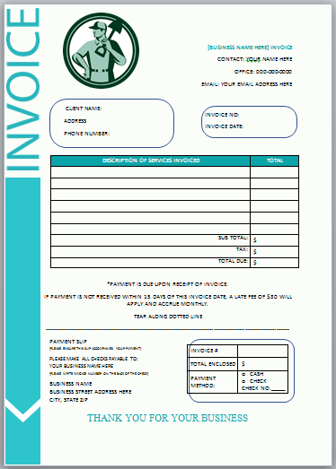 Landscaping Invoice Template 10 Invoice Template Invoice Design Template Invoice Design