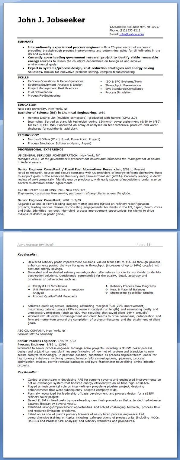 process engineer resume sample creative resume design templates