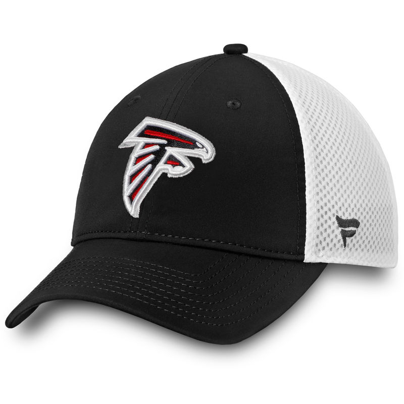 more photos 18ef0 abd7d Atlanta Falcons NFL Pro Line by Fanatics Branded Iconic Maze Trucker  Adjustable Hat – Black White
