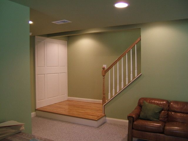 Custom staircase landing and wall raised paneling - modern ...