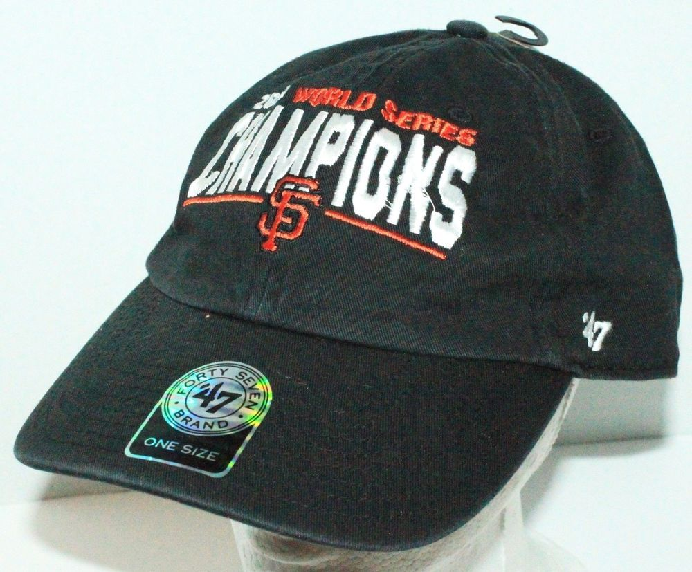 2afe0673ca9 ... discount san francisco giants mlb 2014 world series champions black 47  brand hat cap b1f6a 0ee18
