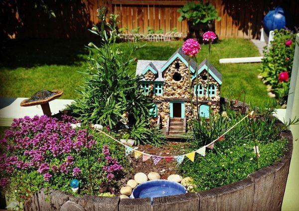 Fairy Garden Ideas Mini Garden Design Miniature House Pond Garden Decoration