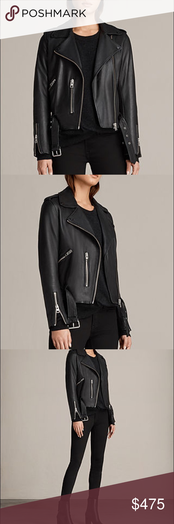 0058057d8 BNWT All Saints Baldwin Leather Biker Jacket Brand new with tags All ...