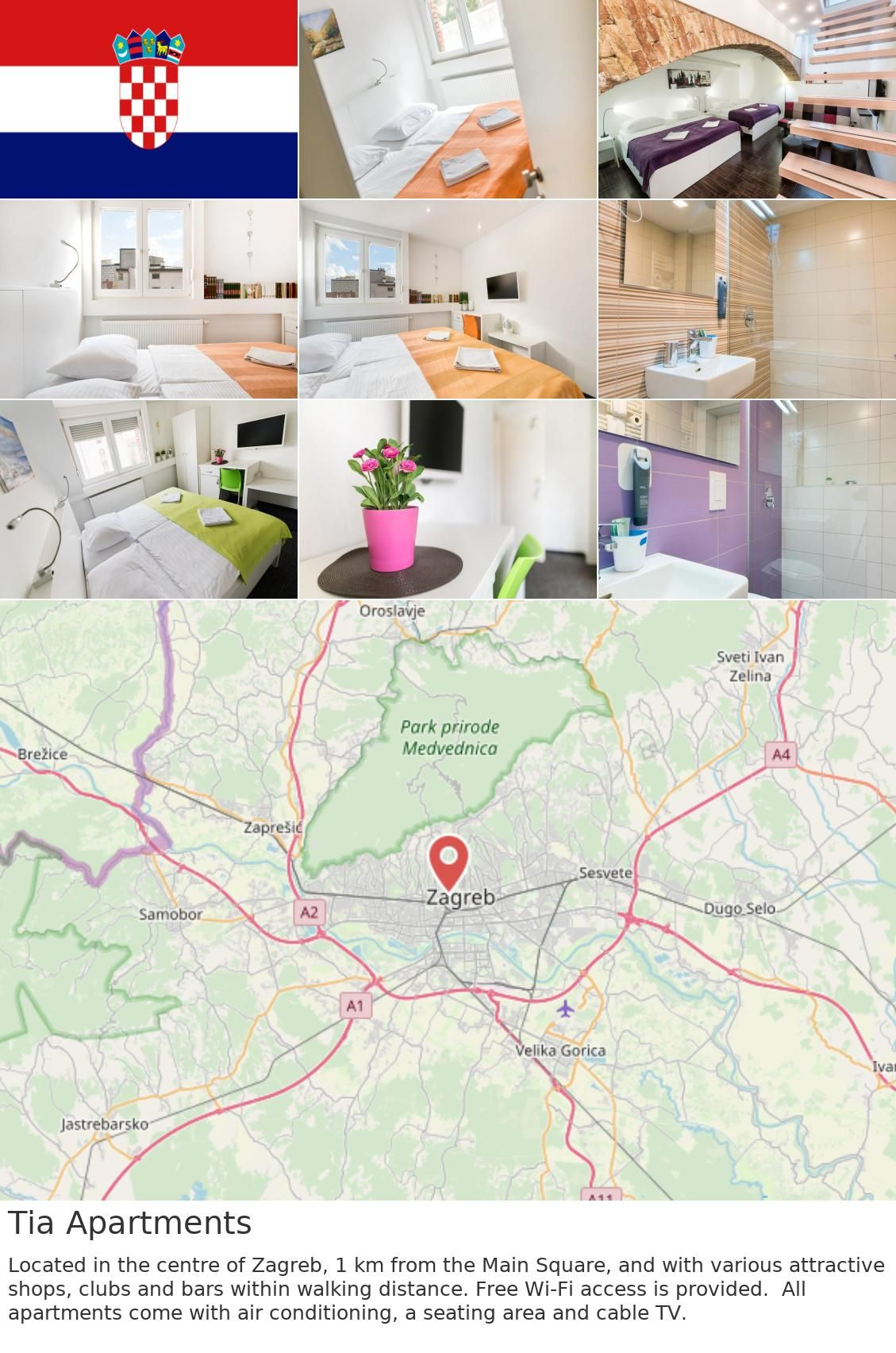 Europe Croatia Zagreb Tia Apartments Located In The Centre Of Zagreb 1 Km From The Main Square And With Various Attractive Shops Clubs And Bars Within Wa