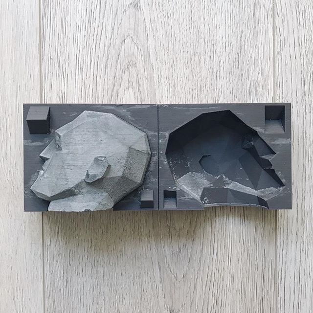 Man Cave Mold reusable plaster concrete casting mould
