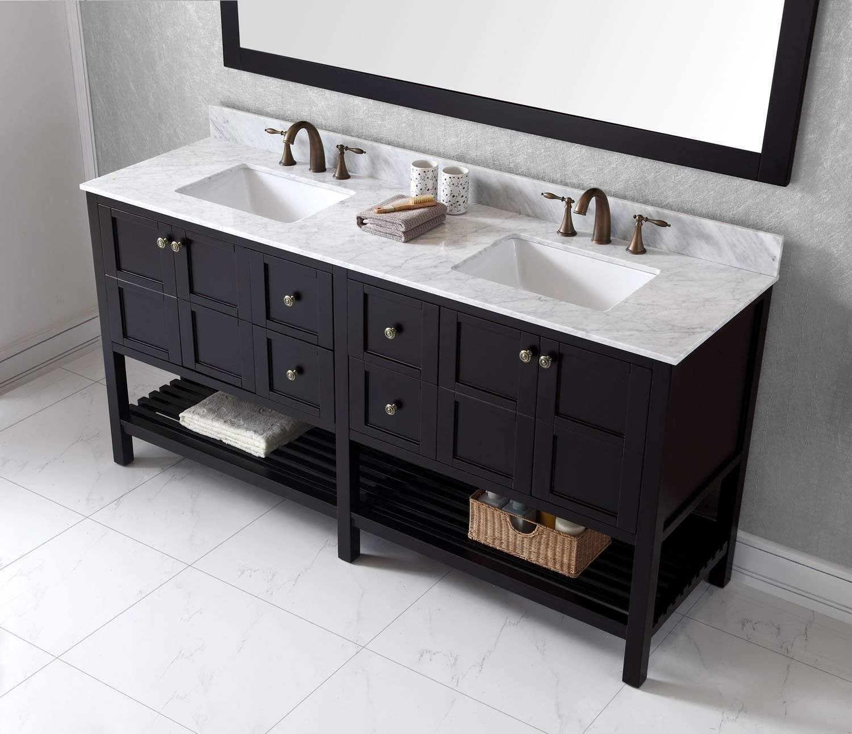 Virtu Usa 72 Inch Winterfell Double Bathroom Vanity Ed 30072 Wmsq