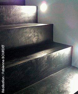 Escalier En Enduit Beton Escalier Escalier Beton Cire