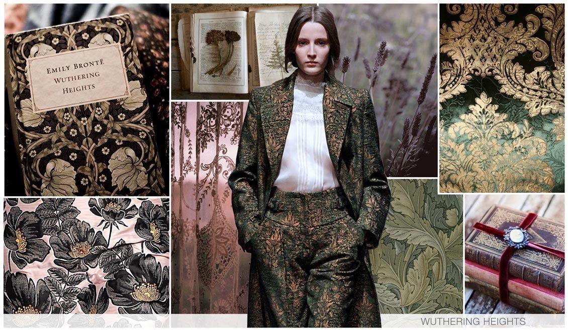 Estética vitoriana e um gótica, com referencias a papeis de parede. Florais preciosos e românticos.