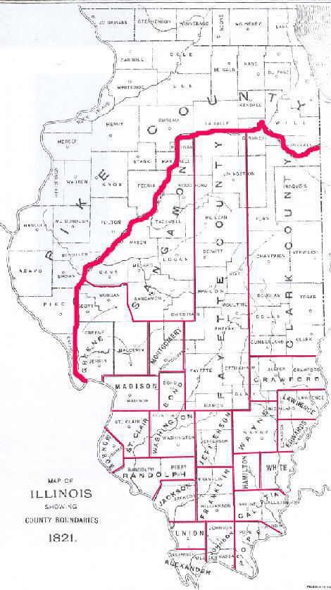 1821 Illinois Map Carmi Il White County Pinterest