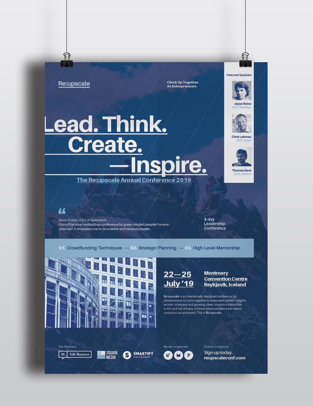 A Set Of 4 Event Conference Seminar Forum Symposium Workshop Flyer Poster Templates For Companies To Promote Mark Desain Web Desain Produk Desain Poster