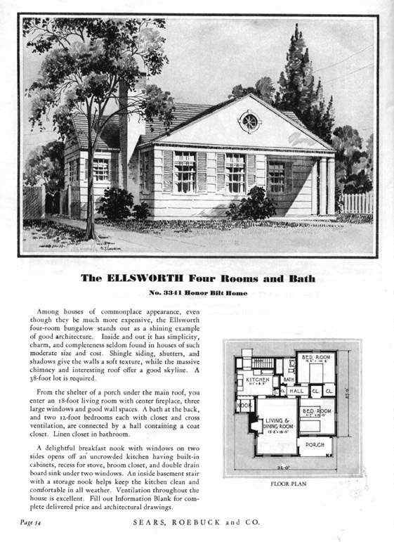 Sears Modern Home No 3341 Or The Ellsworth Kit Homes Vintage