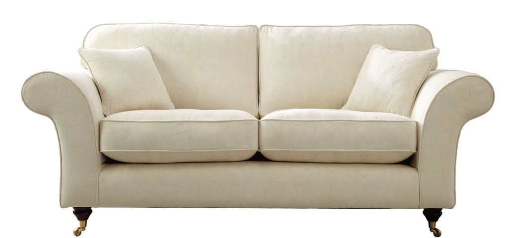 Create a calming atmosphere with our Ascot 3 Seater Sofa in Cream ...