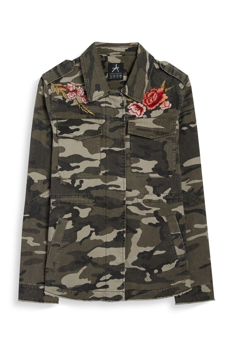 Primark - Camo Rose-Badge Jacket | Primark | Pinterest ...