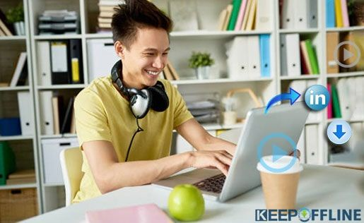 Download Your Linkedin Video By Using Keepoffline Just