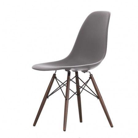 Chaise Dsw Basalte Pietement Erable Fonce Vitra Stuhle Esszimmer Zimmer