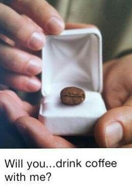 How Cute Is This Will You Drink Coffee With Me Ideias De