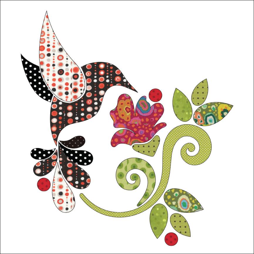 Hummingbird - Set - Applique   Quilt Applique   Pinterest ...