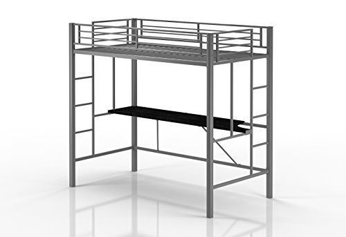 Emily Premium Twin Loft Bunk Bed With Desk Tiny House Style