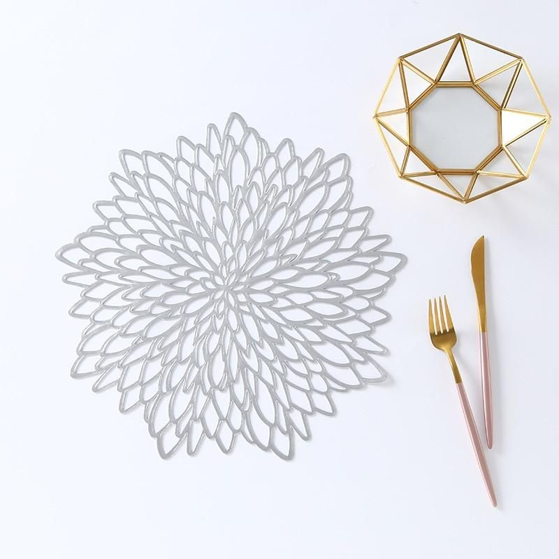 Creative Flower Design Dining Table Placemat Unique Placemats Gold Placemats Flower Designs