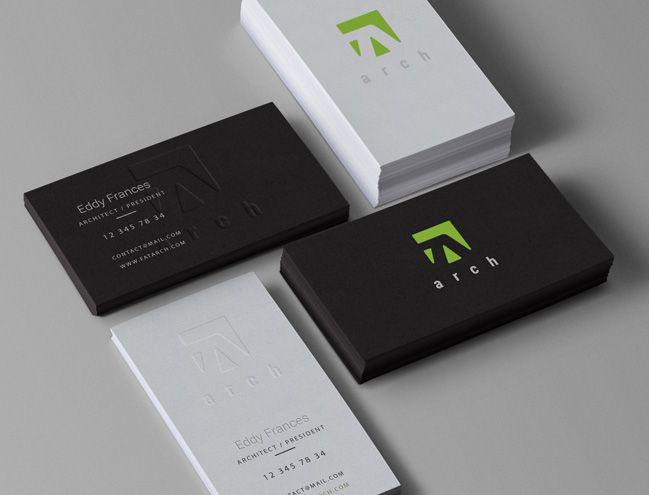 Architect Cards business card design branding | website design miami & south