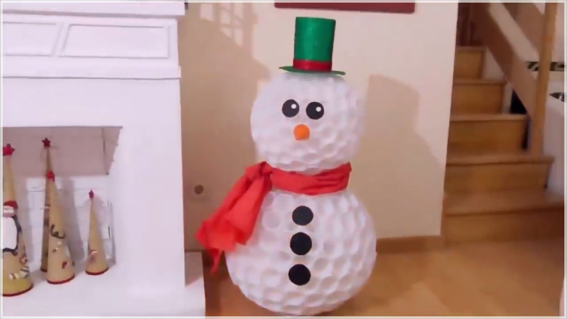 Diy snowman out of plastic cups christmas pinterest plastic