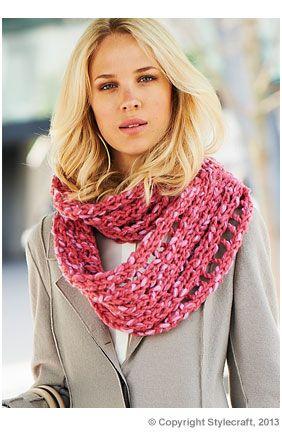 Stylecraft Snood Free Pattern Deramores Knitting And Crochet