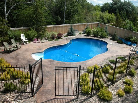 16 Pool Fence Ideas For Your Backyard Awesome Gallery Swimming Pools Backyard Landscaping Around Pool Inground Pool Landscaping