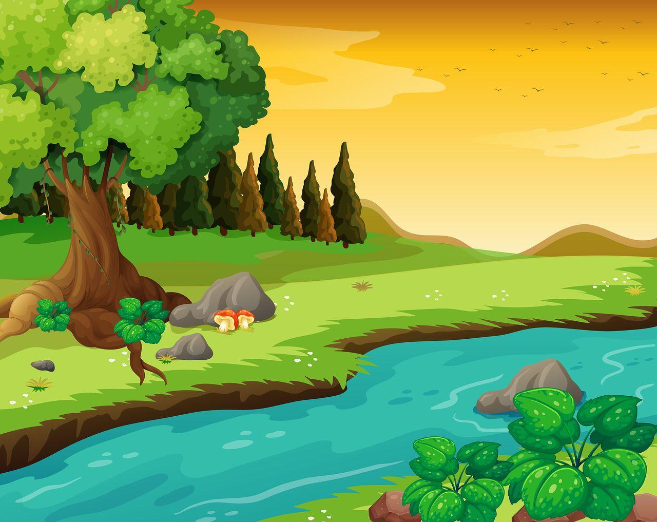 flowing river cartoon - photo #19