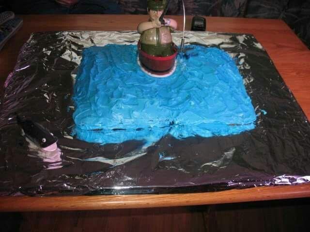 Remote fisherman cake