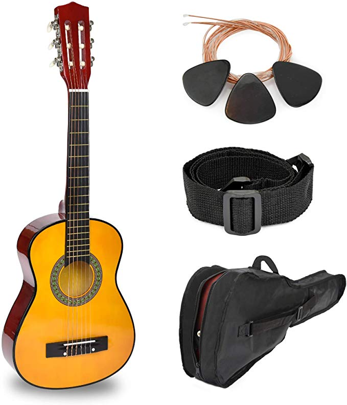 30 Natural Wood Guitar With Case And Accessories For Kids Boys Beginners Musical Instruments Acoustic Guitar Accessories Guitar Guitar Accessories