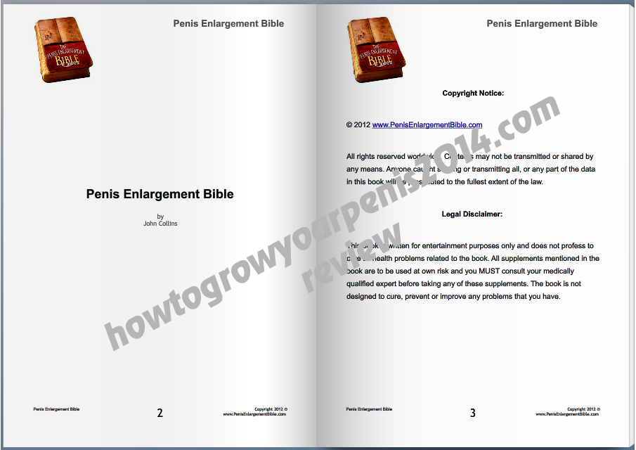 The Penis Enlargement Bible FREE PDF download here http://www ...
