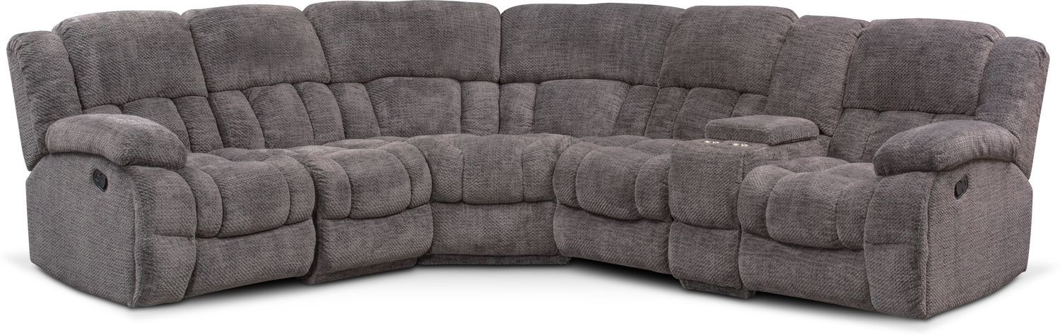 Best Turbo 6 Piece Manual Reclining Sectional With 3 Reclining 400 x 300