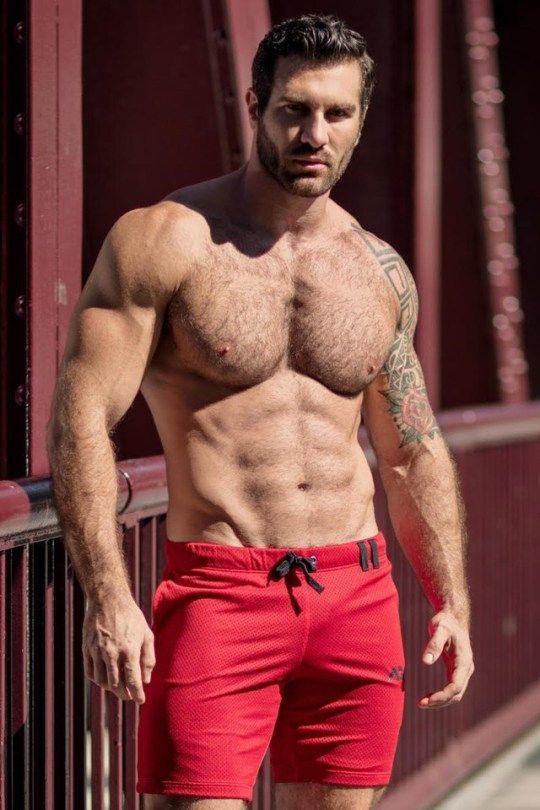 Hairy hard muscle
