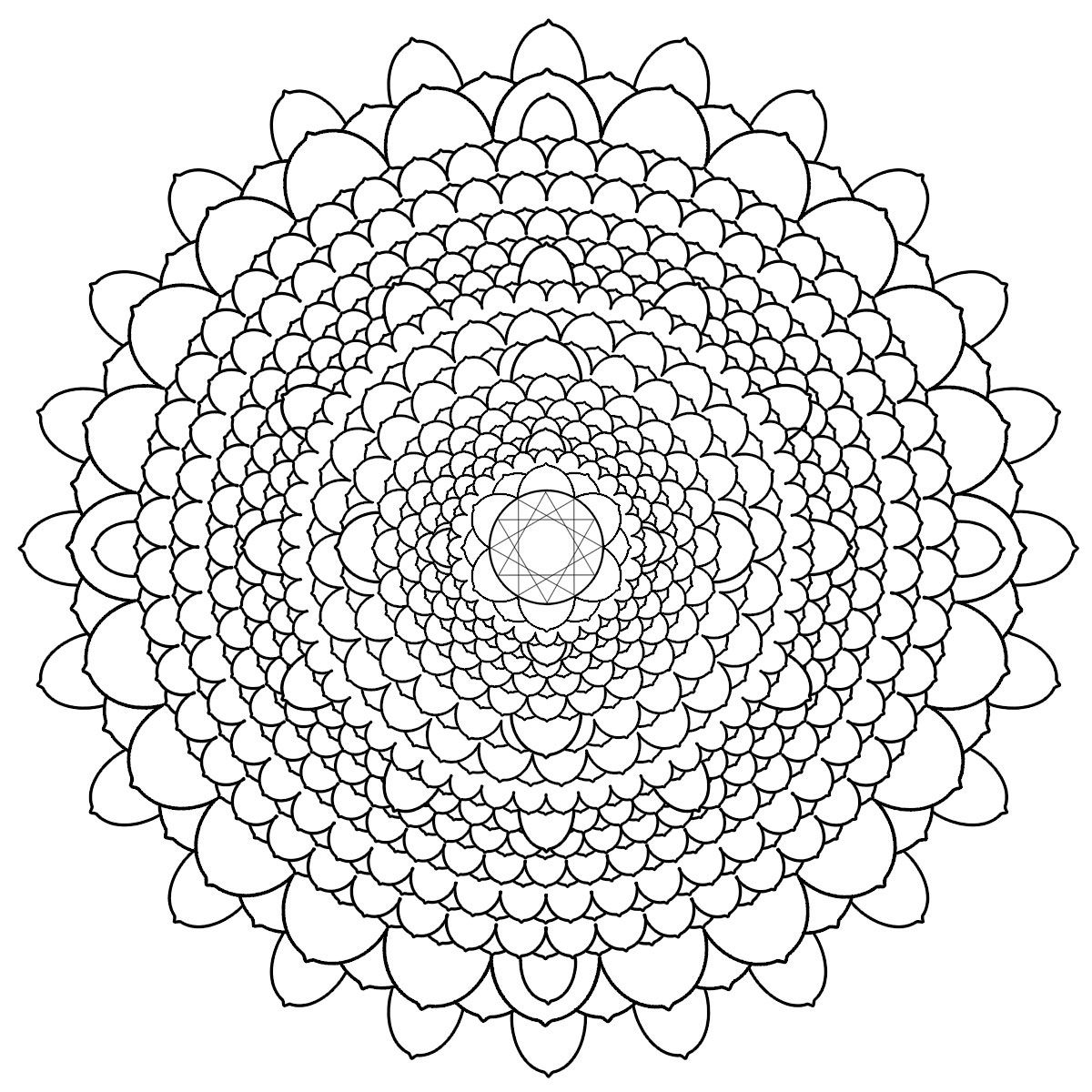 Adult coloring pages free printables mandala - Free Printable Mandalas For Adults Difficult Mandala Coloring Pages