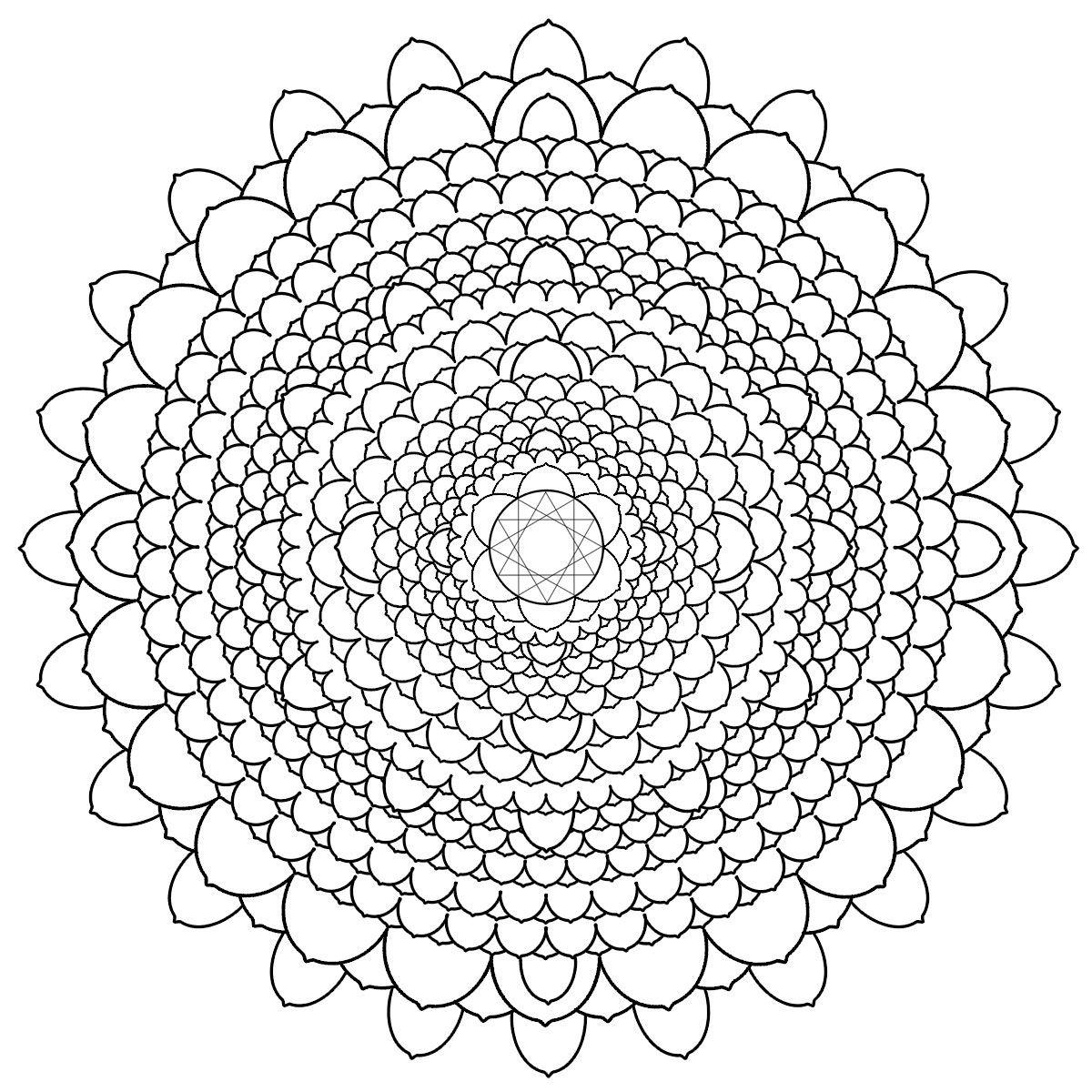 Free Printable Mandalas For Adults Difficult Mandala Coloring