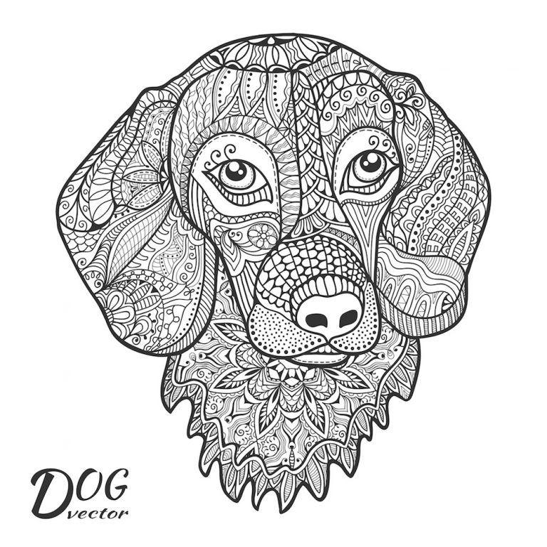 Mandalas De Perros Para Colorear En 2020 Mandalas Animales