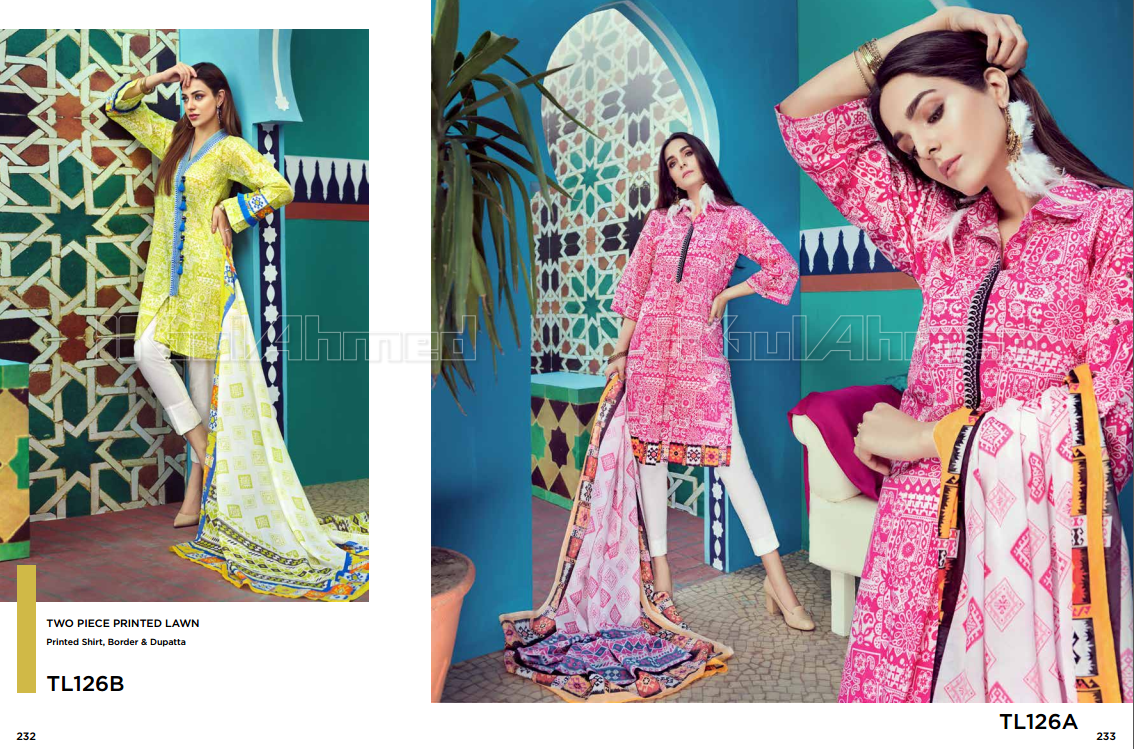 First Look Gul Ahmed Summer Premium Collection 2018 Complete