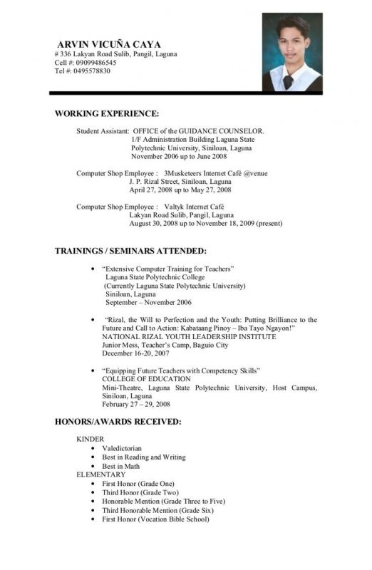 job resume samples for college students resumes pinterest the - job resumes for college students