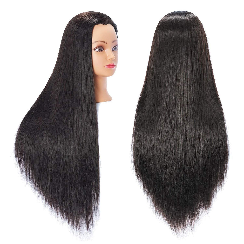 Hairingrid 26 28 Mannequin Head Hair Styling Training Head Manikin Cosmetology Doll Head Synthetic Fiber Hair And Free C In 2020 Hair Mannequin Head Hair Hair Styles